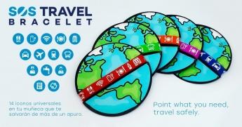 SosTravelBracelet, una pulsera con iconos made in Spain para ayudar a los tursitas en caso de apuro