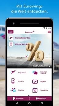 """La App de Eurowings, en el """"Top 3"""" de las aplicaciones favoritas de los viajeros"""