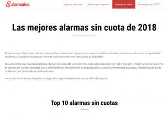 Alarmadoo lanza su comparativa de alarmas sin cuotas for Alarmas para casa sin cuotas