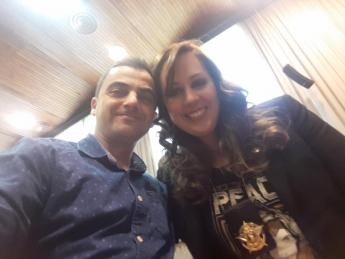 Foto de Alfon Bañeres y la Dra Núria Querol