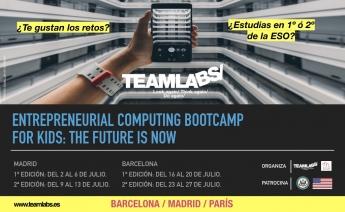 Teamlabs lanza un campamento de verano de tecnología y emprendimiento con la metodología learning by doing