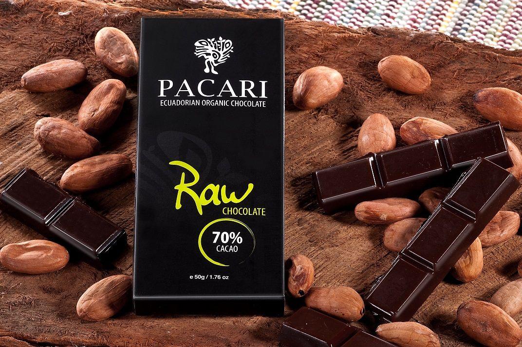 Foto de Pacari Raw 70% Cacao.