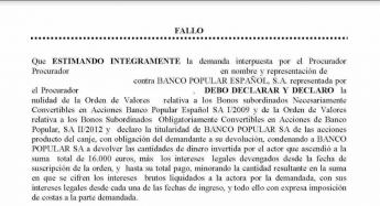 Foto de Nulidad de la compra de bonos convertibles del Banco Popular
