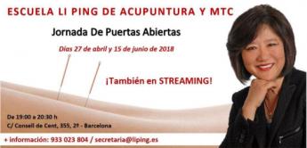 La escuela de Li Ping de acupuntura y MTC celebrará una jornada de puertas abiertas el 15 de junio de 2018