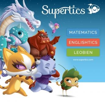 Supertics -  printscreen plataforma de refuerzo escolar online