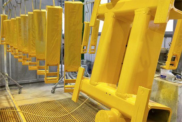 Markola Industry Coatings S.L. recubre superficialmente grandes piezas para la industria