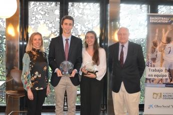 Emocionante entrega del Premio a los Mejores Jugadores-Estudiantes de la Copa Colegial Madrid