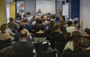 Imagen de archivo de la anterior charla del Espacio de Salud y Cuidados del COEGI.