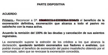 Foto de Auto cancelación de las deudas incluyendo a los avalistas