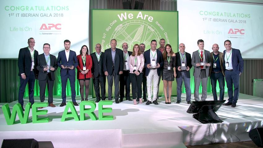Foto de Los premiados en la primera Gala Ibérica IT Channel de APC