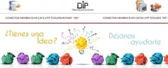 DIP Telecomunicaciones incorpora nuevos conectores RJ45 de instalación sin herramientas
