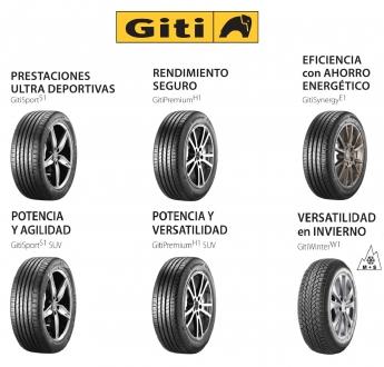 Los nuevos 6 modelos de neumáticos de la marca Giti, ya a la venta en España. Giti Tire.