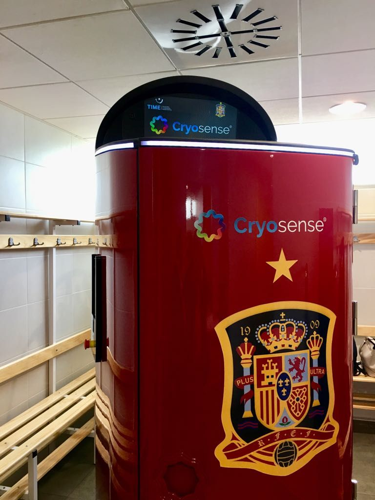 Foto de Cryosense y la Selección Española de Fútbol