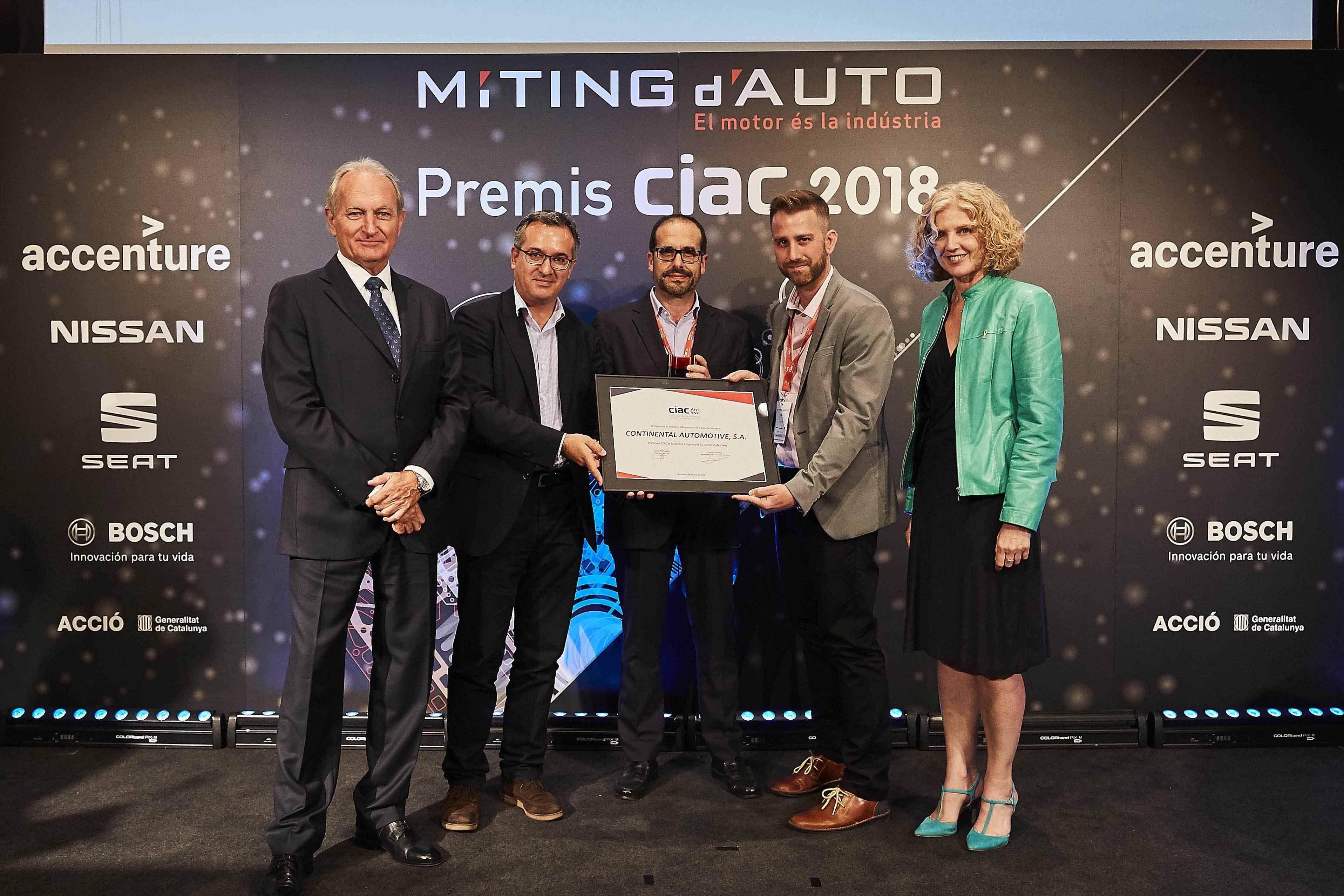 Foto de Continental Automotive_Premio CIAC a la Mejor empresa de
