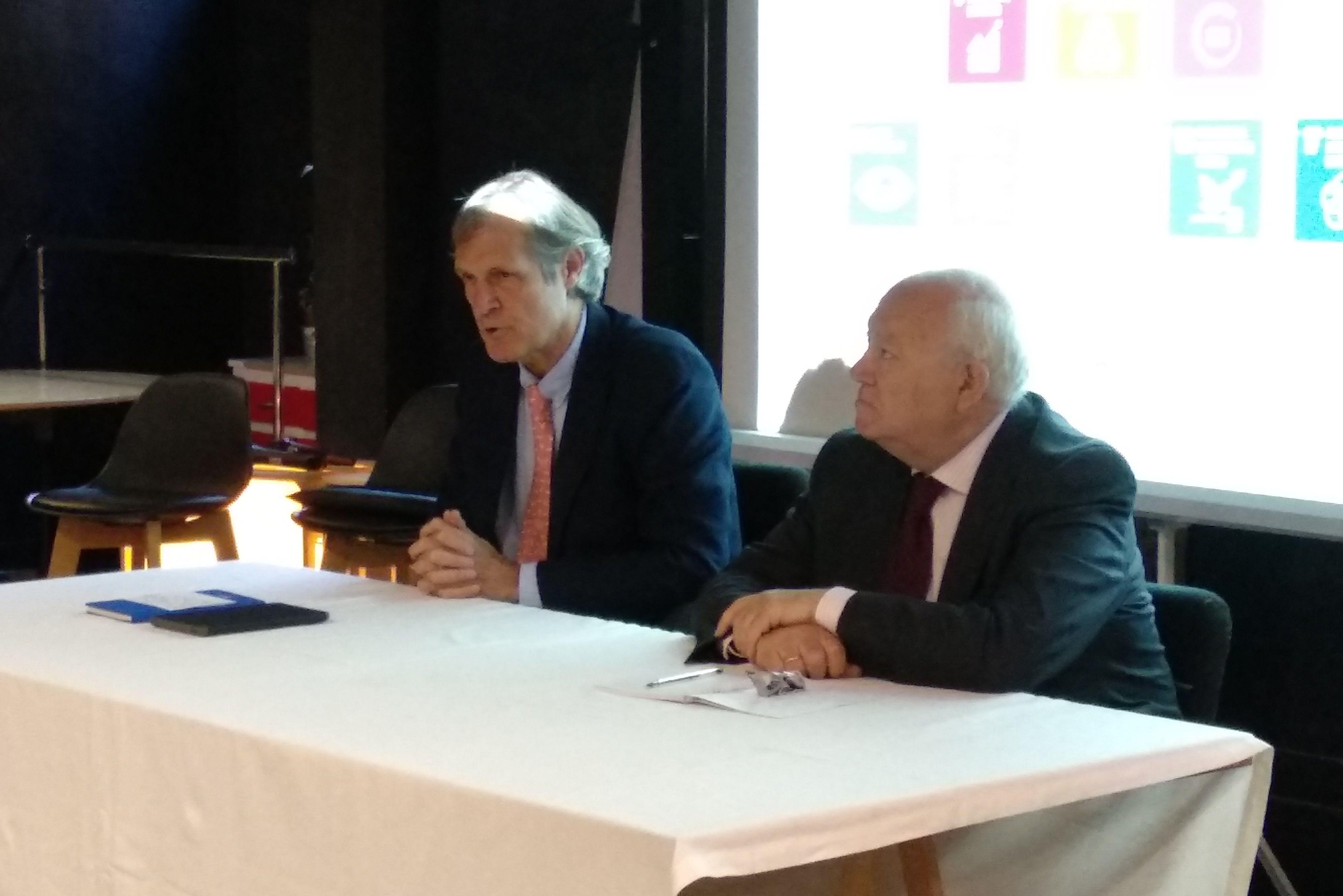 Foto de Ignacio Pi, responsable global de Mediapost, y Miguel Ángel