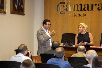 Foto de Eduard Gulyan en la Cámara de Comercio de Valencia