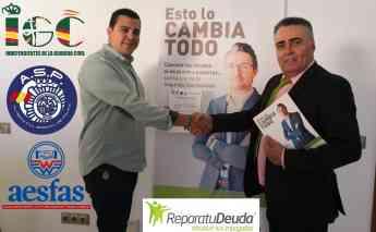 Carlos padilla, delegado de IGC de las Islas Baleares, y Antonio López, director comercial de Repara tu Deuda
