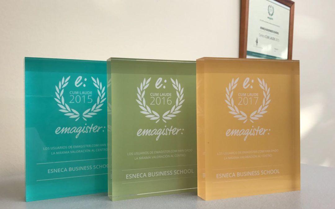 Fotografia Tres de los cuatro sellos Cum Laude de Emagister de Esneca