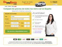 DoYouSpain.com, una plataforma para comparar todos los rent a car de España y conseguir el mejor precio