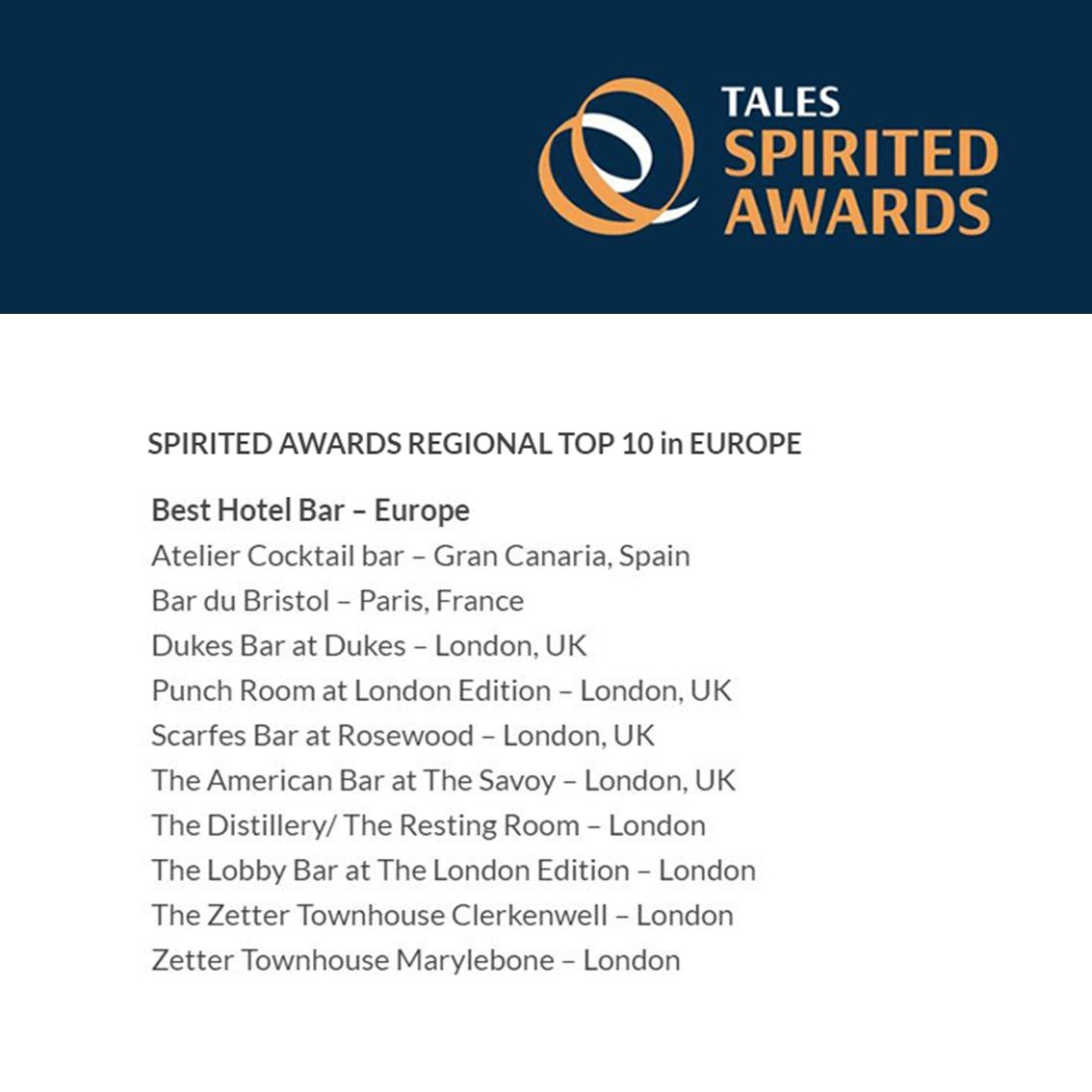Fotografia Spirited Awards Regional Top 10
