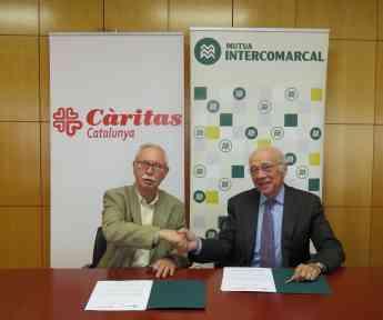 Càritas Catalunya y Mutua Intercomarcal firman un convenio de colaboración