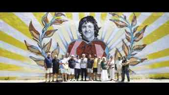 Foto de Presentación del mural.