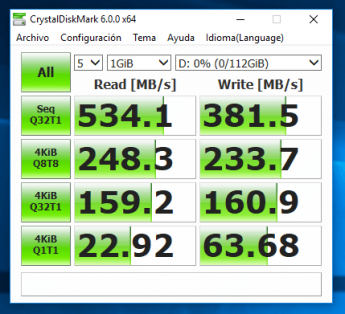 Foto de Velocidad de los discos SSD