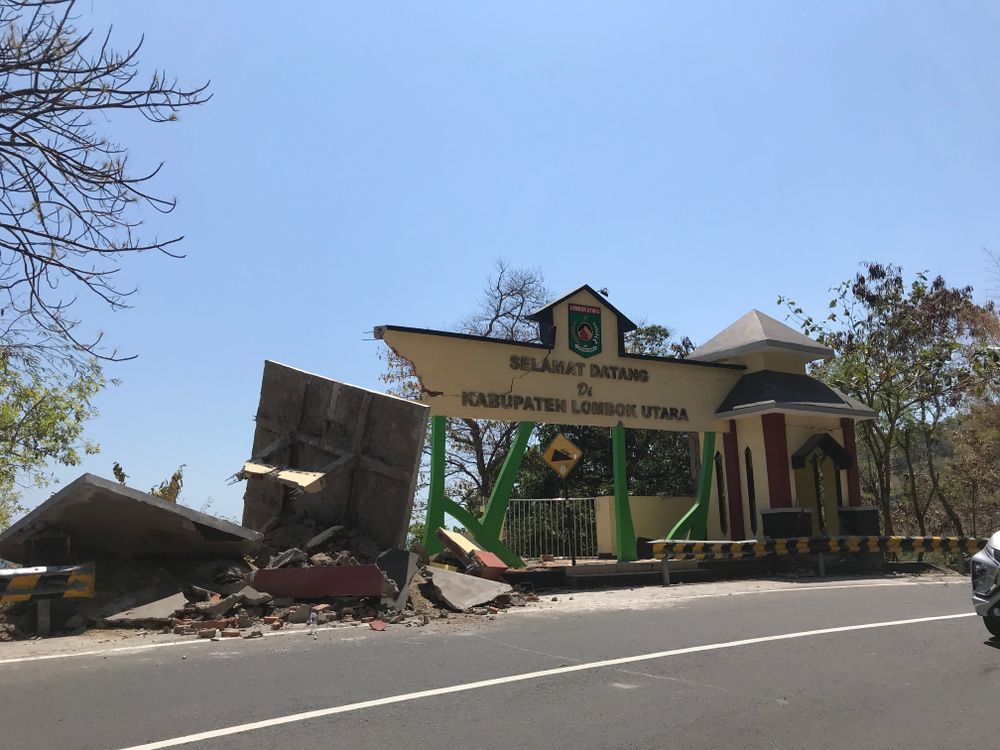 Fotografia Terremoto agosto Lombok