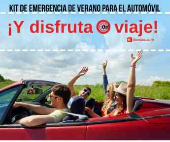 Kit de emergencia de verano para el automóvil, ¡no hay que olvidarlo!
