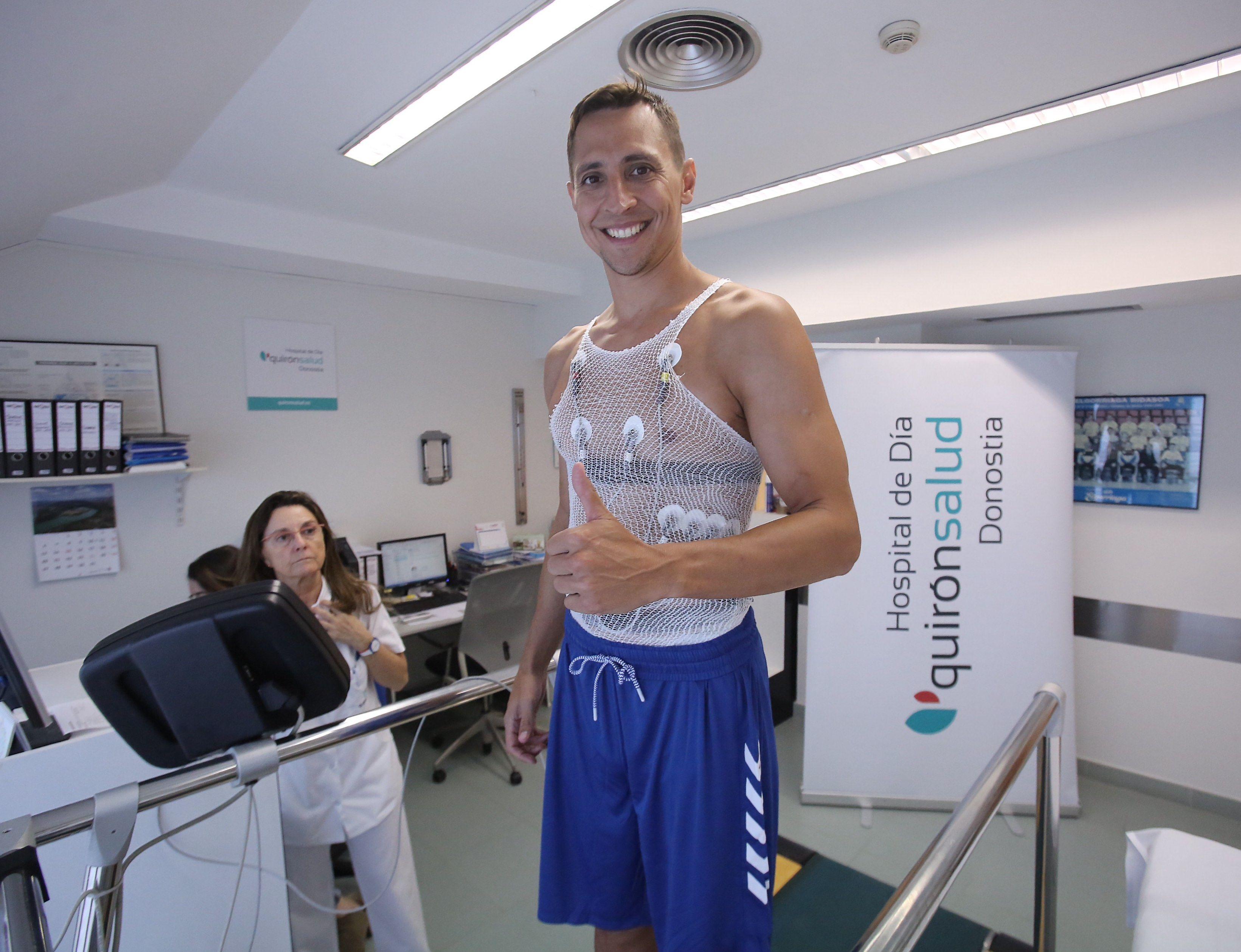 Foto de Fede Van Lacke, jugador del GBC, antes de realizar su prueba