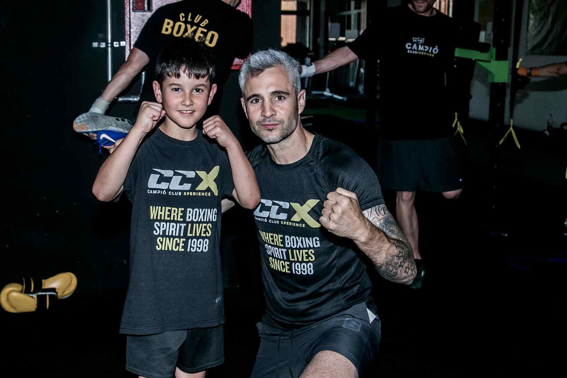 Foto de Oscar Biel y alumno de Campió Club