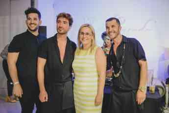 Foto de Oscar Coello, Manuel Casado, Manuel Martos  junto a Ana Mula