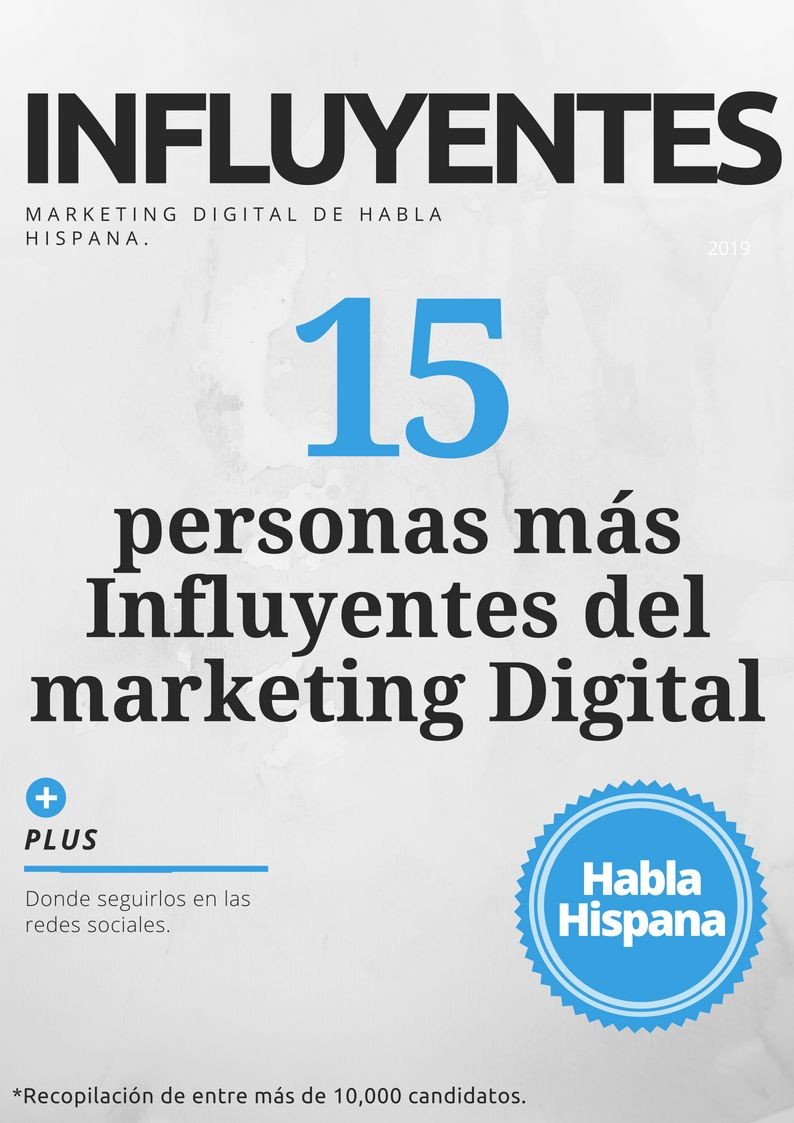 Foto de Portada: 15 Influyentes del Marketing Digital