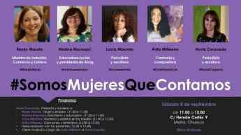 #SomosMujeresQueContamos, el evento para visibilizar el talento de la mitad de la población