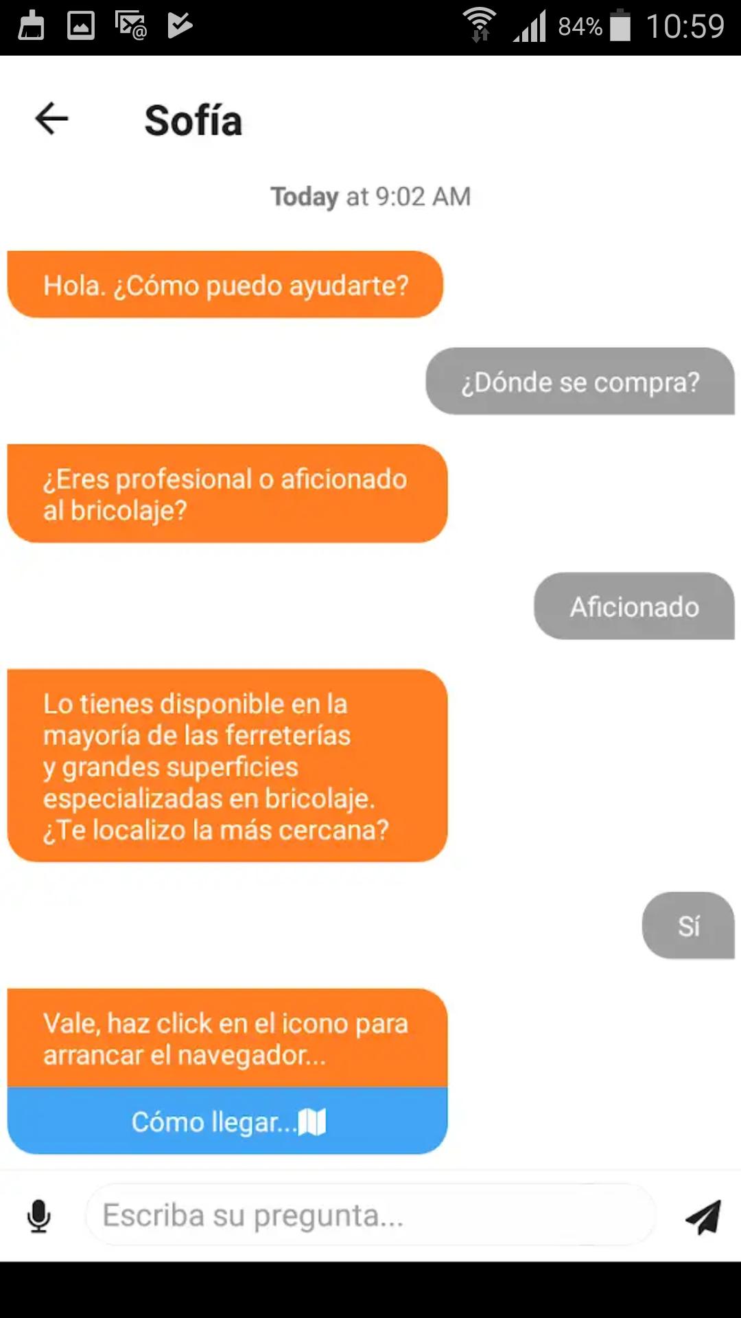 Fotografia El App chatbot de Quilosa resuelve cualquier duda del