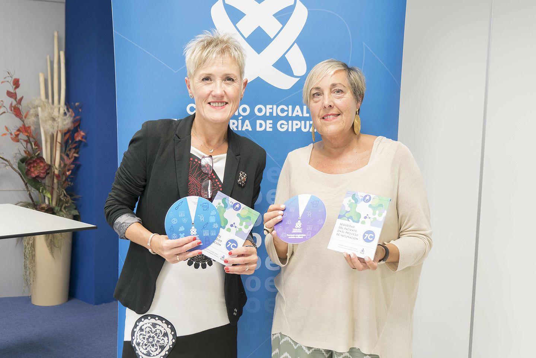 Foto de La presidenta del COEGI, Pilar Lecuona y la vocal de la