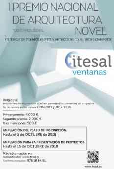 ITESAL amplía el plazo de su I Premio Nacional de Arquitectura Novel ITESAL VETECO 2018