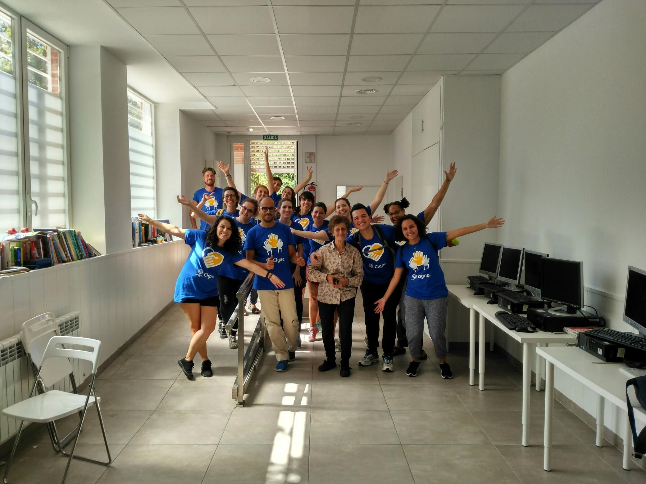 Foto de Acción RSC Cigna con Ángeles Urbanos