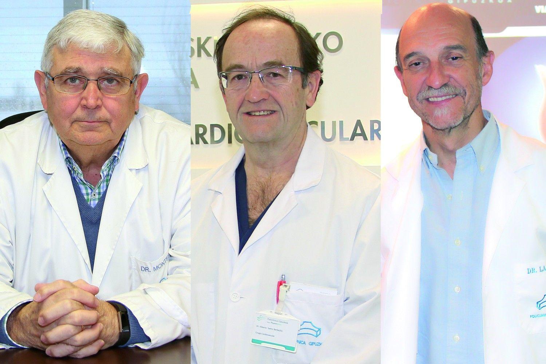 Foto de Los Dres. Javier Montes, Alberto Sáenz y Mariano Larman