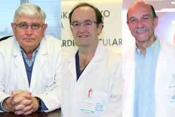 Los Dres. Javier Montes, Alberto Sáenz y Mariano Larman