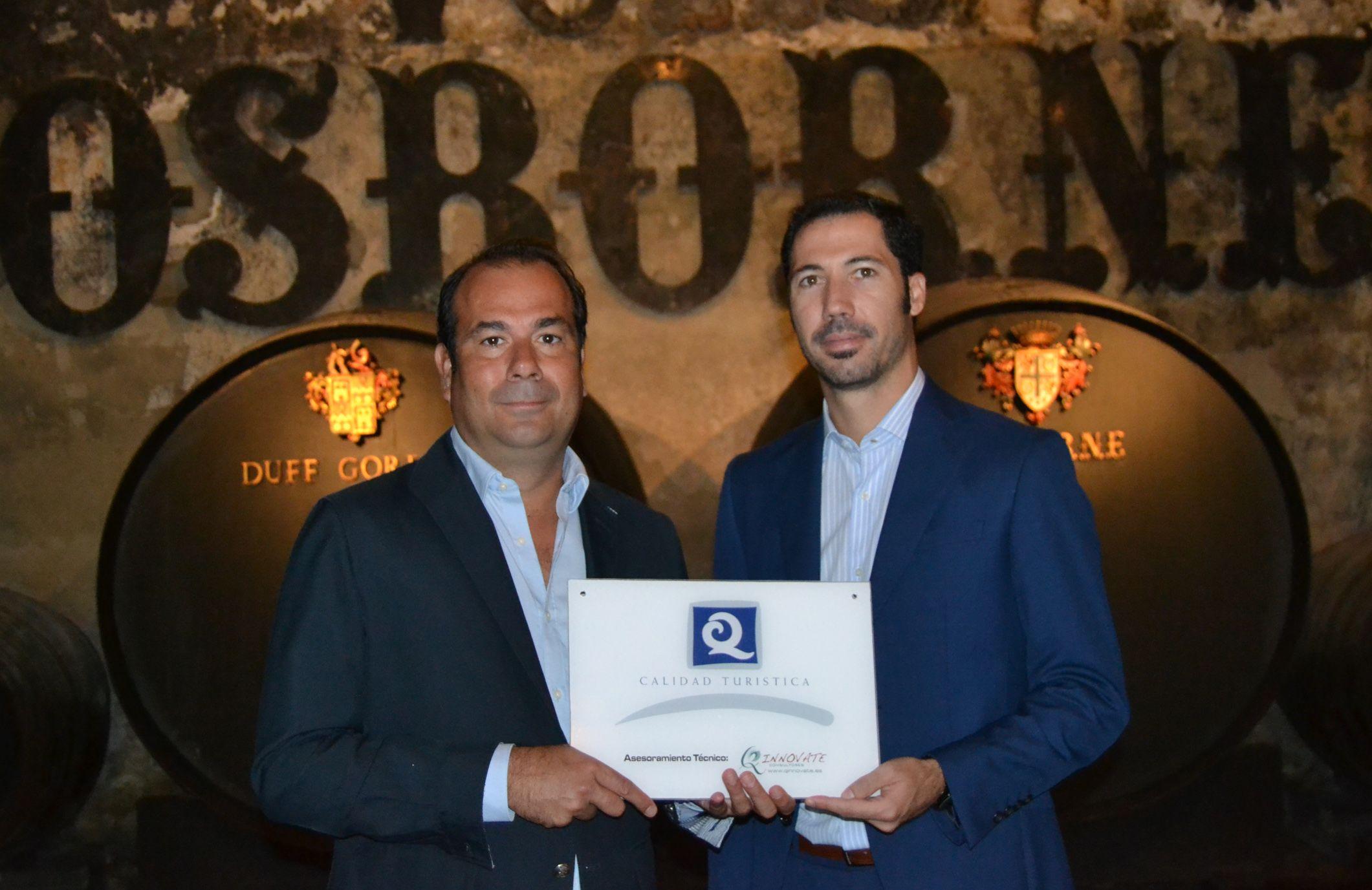 Foto de Entrega del certificado Q de Calidad Turística