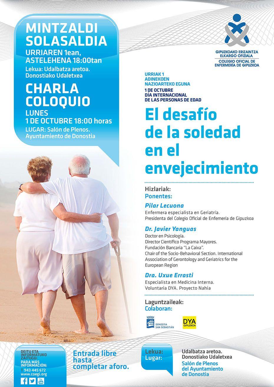 Foto de Cartel anunciador de la charla organizada por el COEGI el