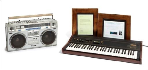 Fotografia Teclado Yamaha CP10 Electronic Piano y Radio Casete JVC