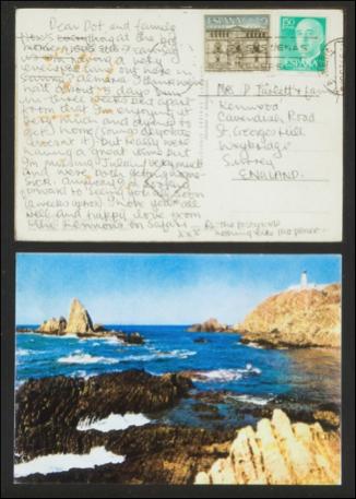 Fotografia Postal enviada por John Lennon desde Almería, 1967-1968.