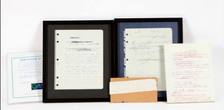 Fotografia Conjunto de dos letras inéditas a mano originales, de