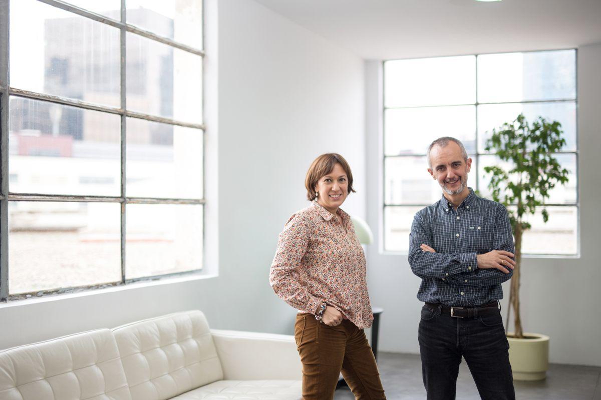 Foto de Ainhoa Morán y Pepe Tomé, socios fundadores de Nordia