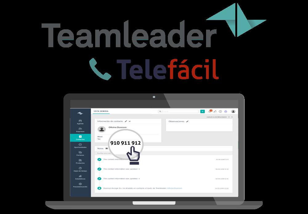 Fotografia Integración con Teamleader y Telefácil