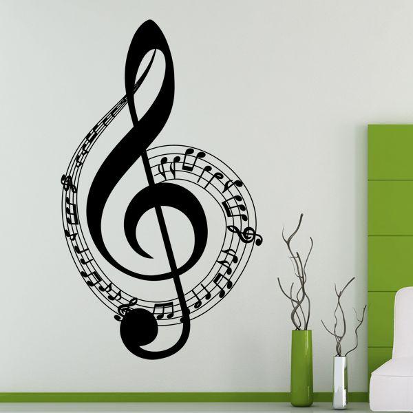 Foto de Uno de sus vinilos decorativos de temática musical