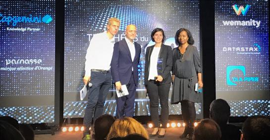 Foto de Imagen de la entrega de premios eCAC. De izquierda a derecha: