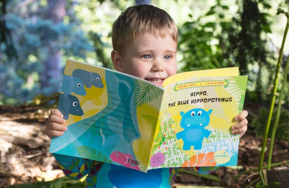 Foto de Hipo, el hipopótamos azul